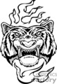 angry tiger tattoo design