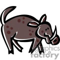 Cartoon Wild Boar