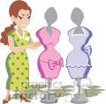 clipart clip art vector occupations work working job jobs eps jpg gif png dress dresses clothing clothes female store