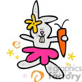 a little girl easter bunny holding a carrot and wearing a pink skirt gif, png, jpg