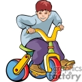Child on a tricycle