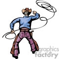 a view of a cowboy from behind wearing his chaps hat and gun belt roping gif, png, jpg, eps