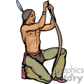 indian indians native americans western navajo making bow and arrow vector eps jpg png clipart people gif gif, png, jpg, eps