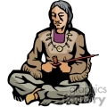 indian indians native americans western navajo peace pipe smoking vector eps jpg png clipart people gif png, jpg