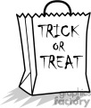 Trick or Treat bag  vector clip art image