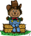 scarecrow sitting on a hay bail gif, png, jpg, eps