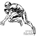 Football player dodging tackles