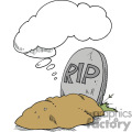 rip tombstone with thought bubble gif, png, jpg, eps