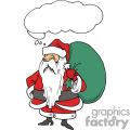 Santa claus holding a big green bag of toys
