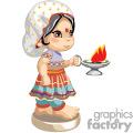 An indian girl carrying a firepot