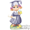 little girl in a cap and gown graduating from school gif, png, jpg, eps