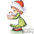 a little pilgrim girl carrying a basket gif, png, jpg, eps