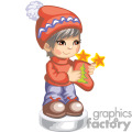 Boy holding a christmas stocking