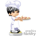 little chef boy holding a pizza gif, png, jpg, eps