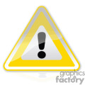 Yellow exclamation mark sign