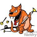 Image of a cat holding a dart gun