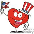 Heart holding an American flag