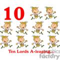 On the 10th day of Christmas my true love gave to me Ten Lords A-leaping