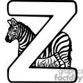 Letter Z Zebra
