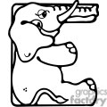 Letter E Elephant