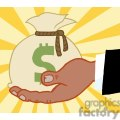 2856-african-american-bussines-hand-holding-money-bag  gif, png, jpg, eps, svg, pdf
