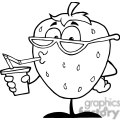 2835-Cartoon-Strawberry-Juice-Drink