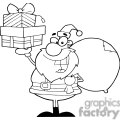 3006-Santa-Holding-Up-A-Stack-Of-Gifts