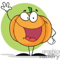 2884-Happy-Pumpkin-Waving-A-Greeting