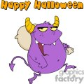 purple monster costume