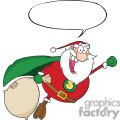 3409-African-American-Super-Santa-Claus-Fly-With-Speech-Bubble