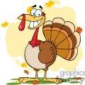 3504-Turkey-Mascot-Cartoon-Character
