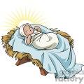 Baby Jesus in a Manger Glowing