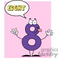 Funny-Number-Guy-Eight-With-Speech-Bubble