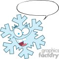 Cartoon-Snowflake-With-Speech-Bubble