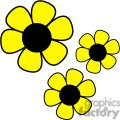 three yellow daisies gif, png, jpg, eps, svg, pdf