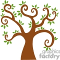 brown swirl tree with leaves gif, png, jpg, eps, svg, pdf