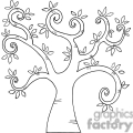black and white swirl tree gif, png, jpg, eps, svg, pdf