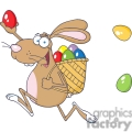 cartoon bunny delivering eggs
