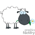 black cartoon sheep
