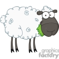 cartoon black sheep