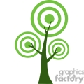 green cartoon tree