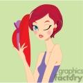 red head girl winking