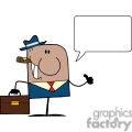 4351-American-Businessman-Cartoon-Doodle-Businessman-Holding-A-Thumb-Up-And-Speech-Bubble