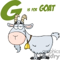 4359-Goat-Cartoon-Character-With-Letter-G