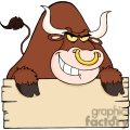 4368-angry-bull-looking-over-a-blank-wood-sign  gif, png, jpg, eps, svg, pdf