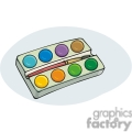Cartoon paint palette