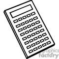 Black and white outline of a calculator