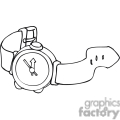 Black and white outline of a watch