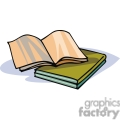 Cartoon books with open blank pages