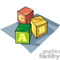 Cartoon wooden building blocks
